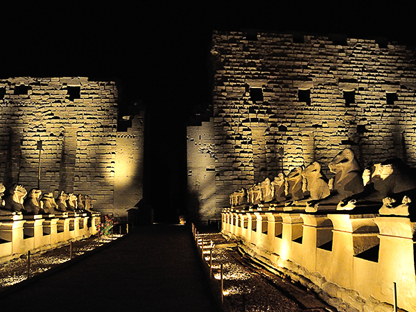 Sound and Light Show at the Karnak Temples in Luxor